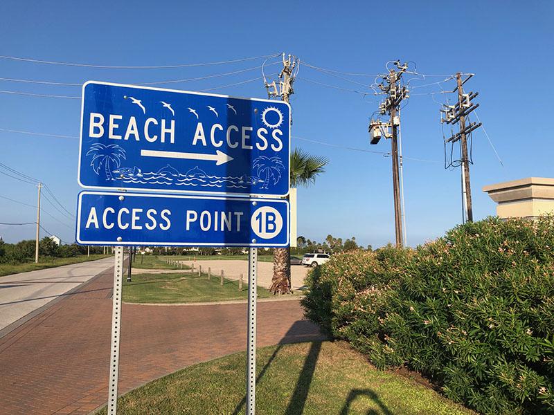 Beach Access Point 1B Sign at Palisade Palms