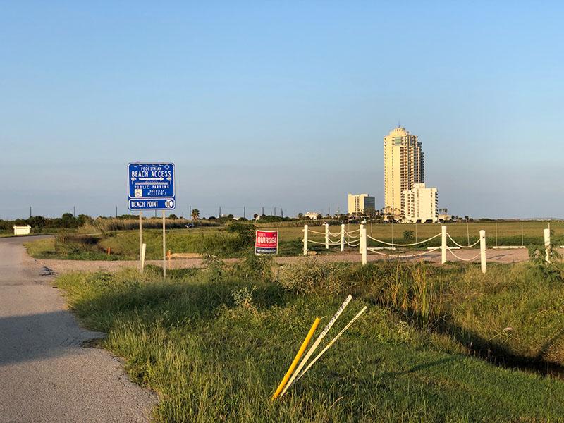 Beach Access Point 1C Sign at Grand Beach