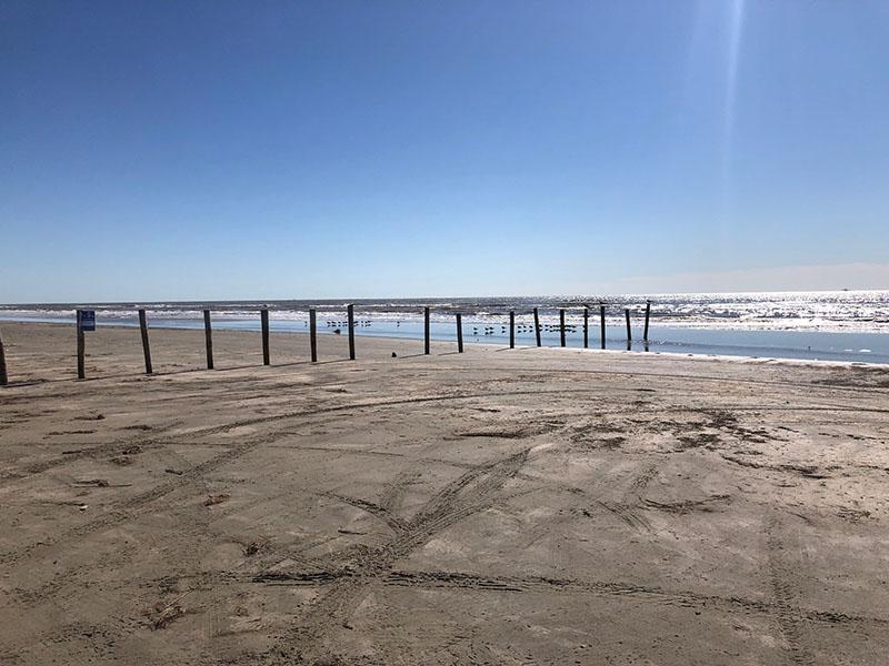 Beach Access Point 34 at Miramar - East View