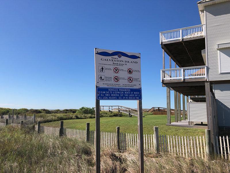 Beach Access Point 34 at Miramar Sign