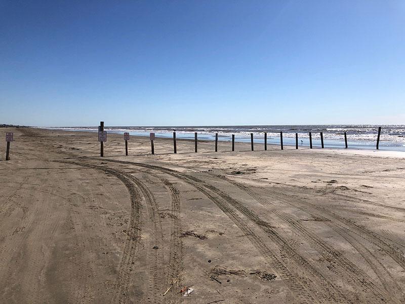 Beach Access Point 35 at Half Moon Beach - East View
