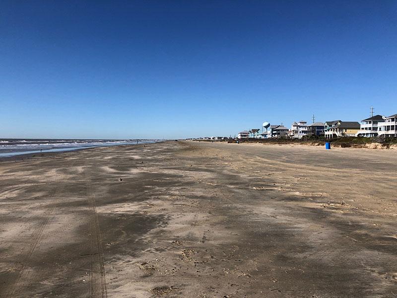Beach Access Point 35 at Half Moon Beach - West View