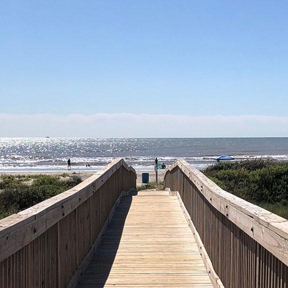 Point West Boardwalk to Beach