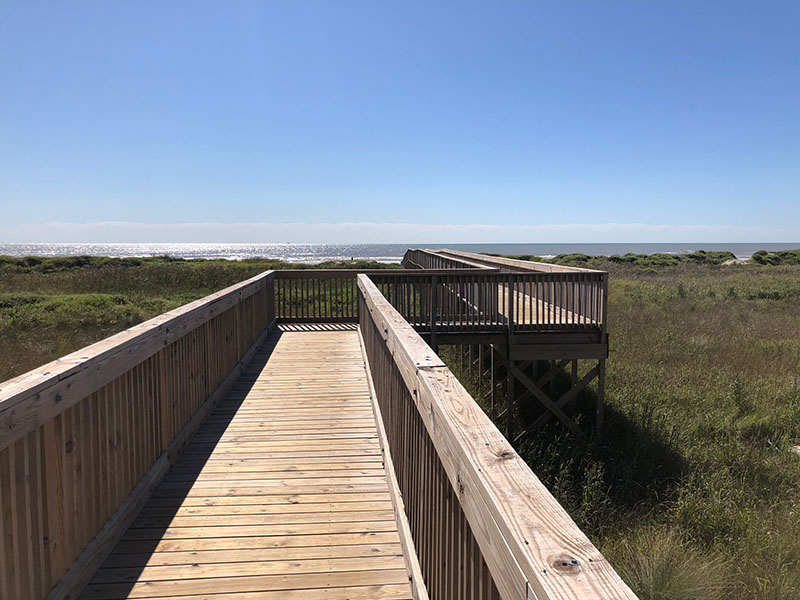 Point West Boardwalk to Beach over Dunes