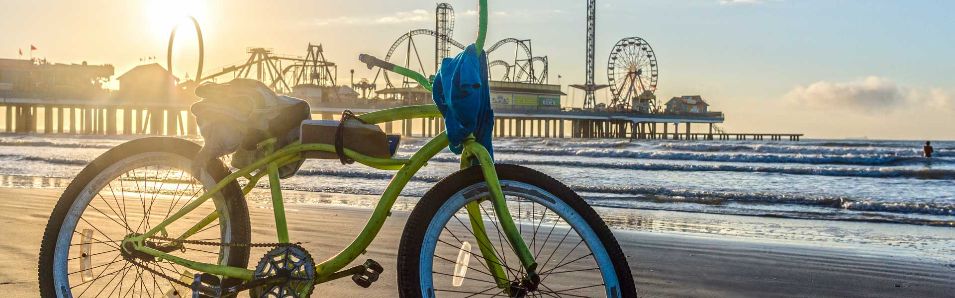 Bicycle Near the Pleasure Pier, Galveston, TX