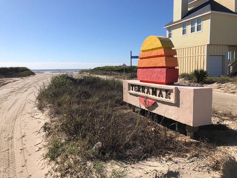 Beach Access Point 31 at Terramar Beach Entrance Sign