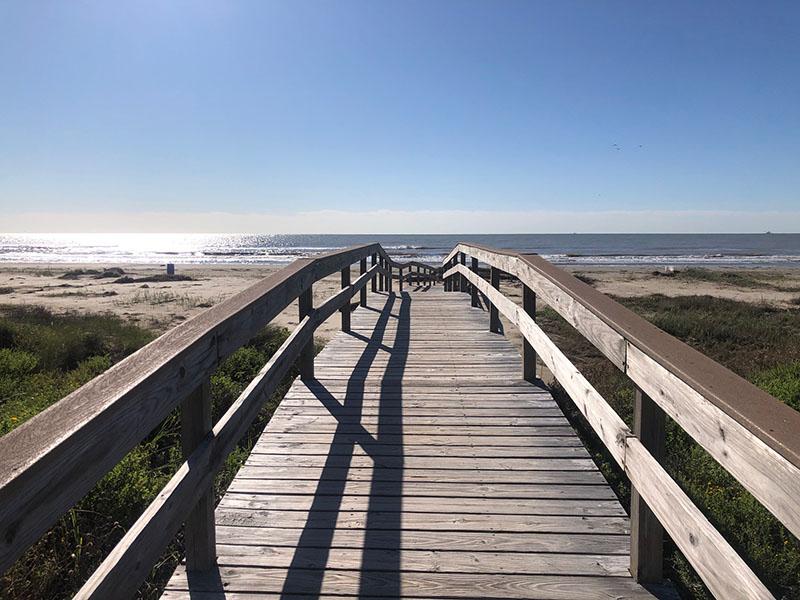Sea Isle Beach Park - Boardwalk Over Beach