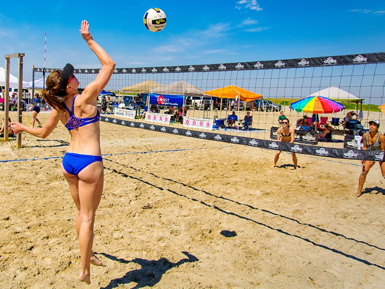 Volleyball Players at East Beach