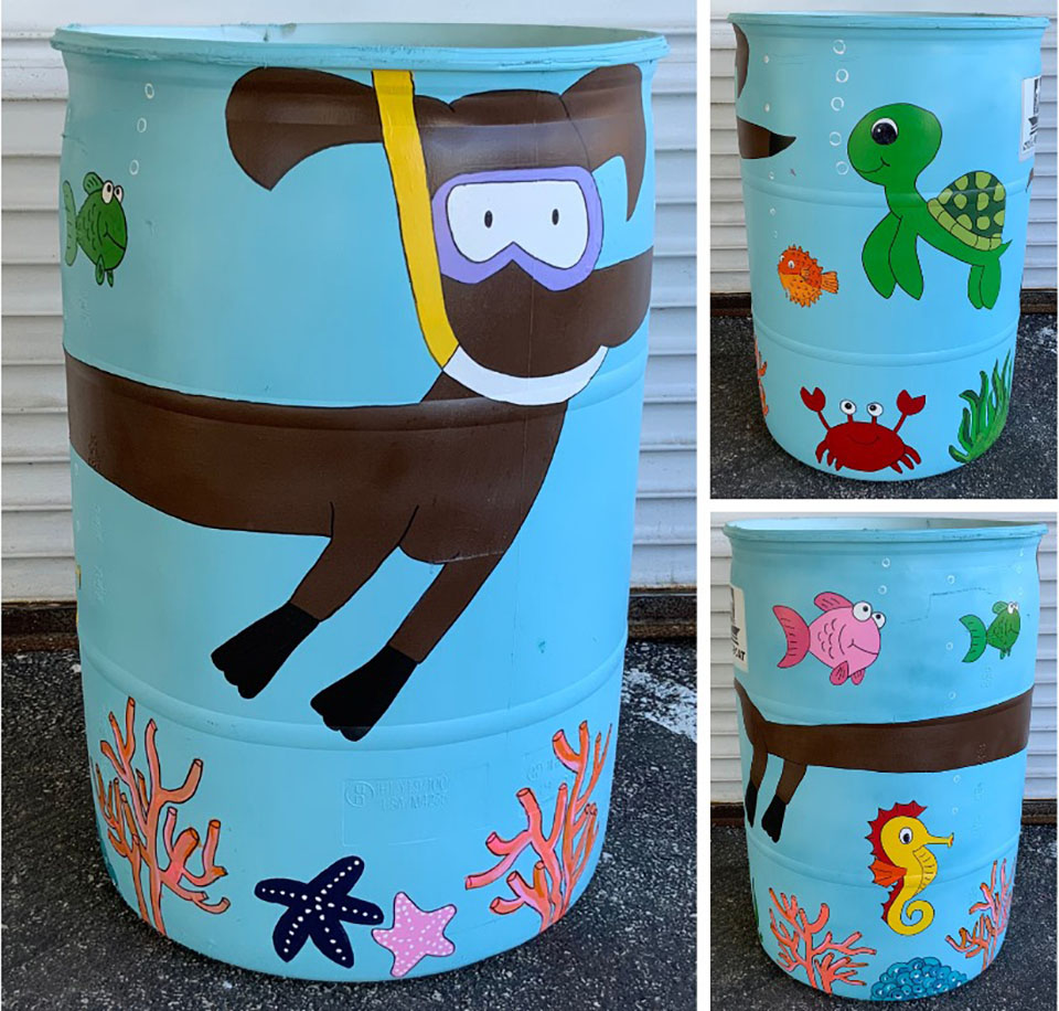 Beautify the Bucket - Painted Trash Cans