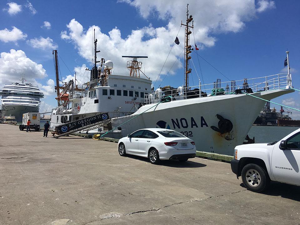 NOAA's R/V Oregon II Anchored Along The Wharf