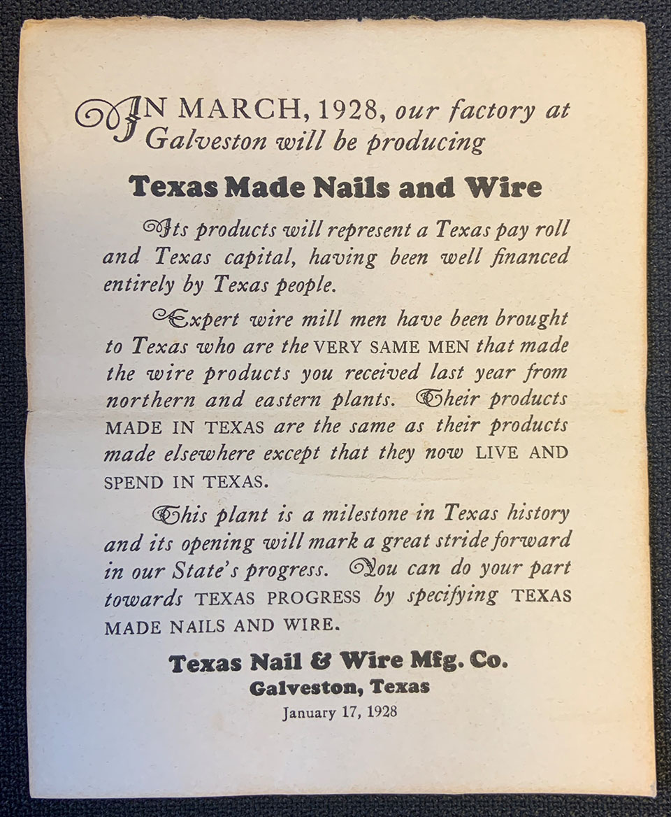 Information Insert Included with Box of Nails