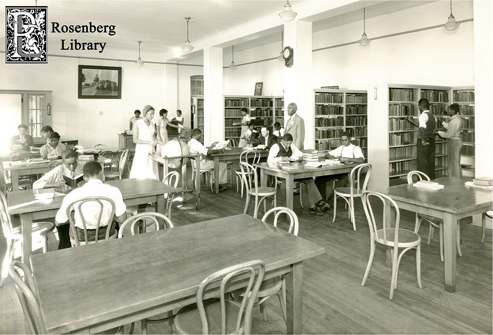 Students at the Rosenberg Library Colored Branch