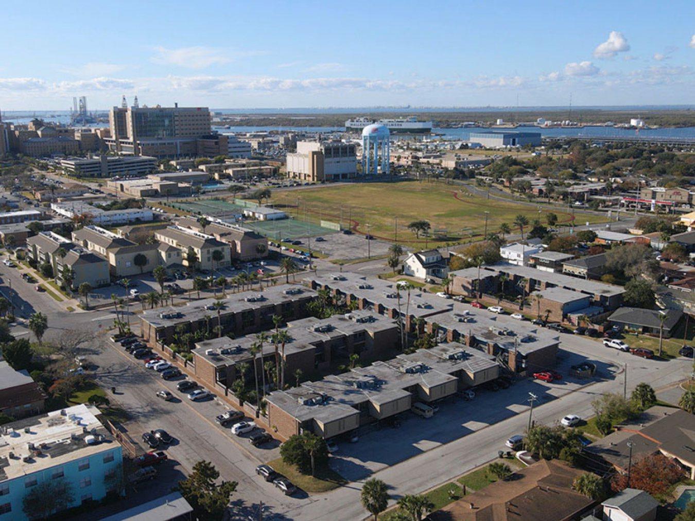 Ebbtide Apartments Aerial View