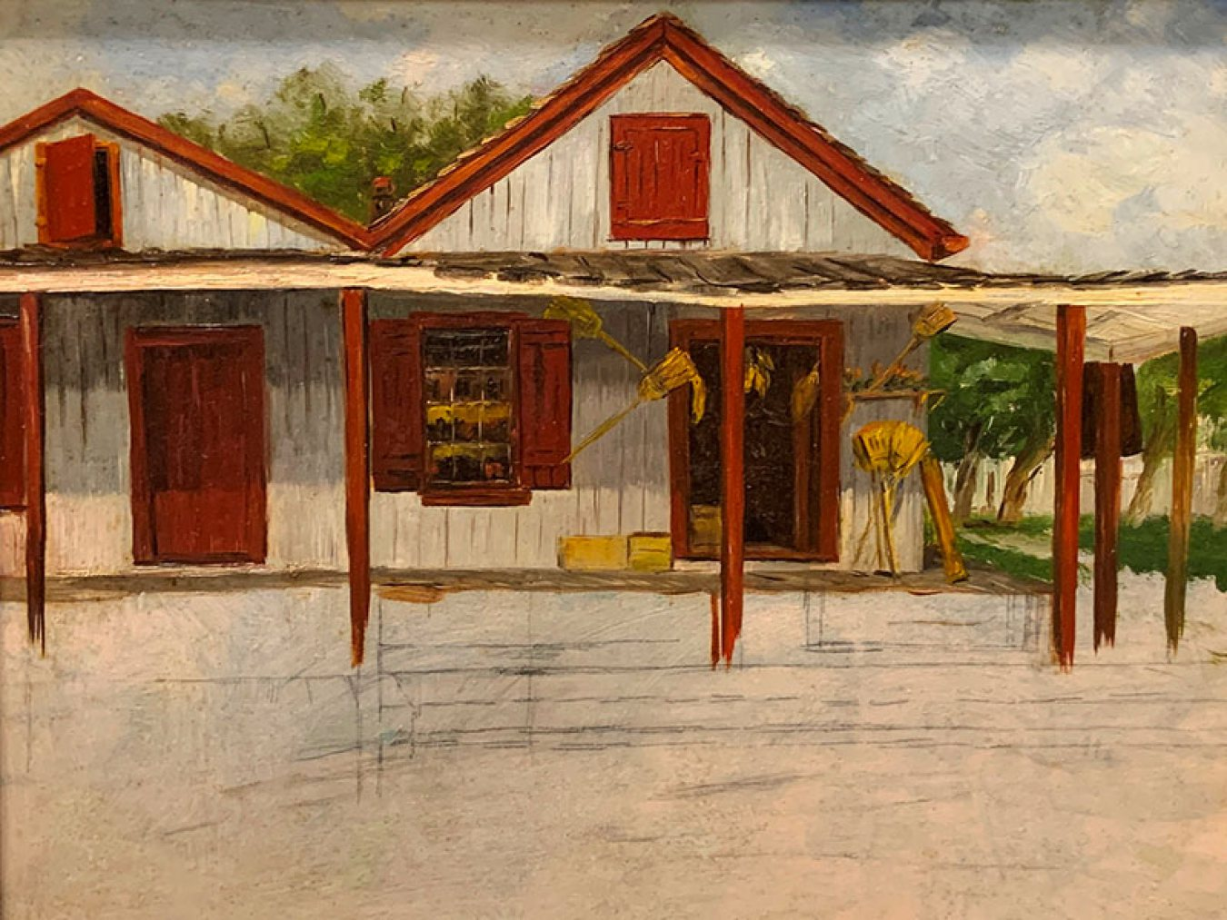Painting of Guzzi's Store