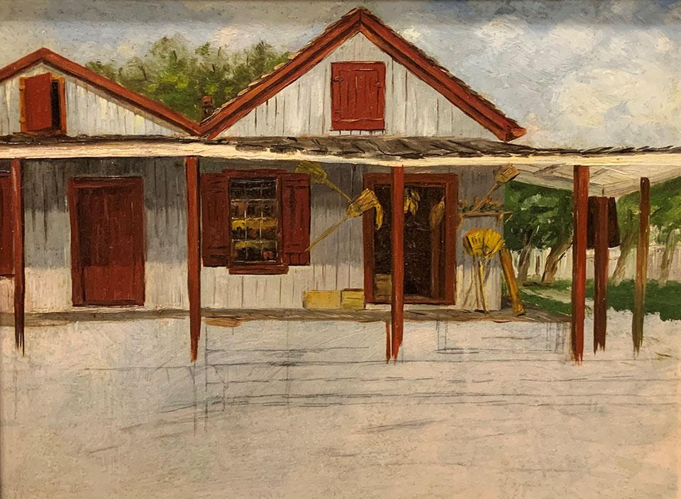 Painting of Guzzi's Store