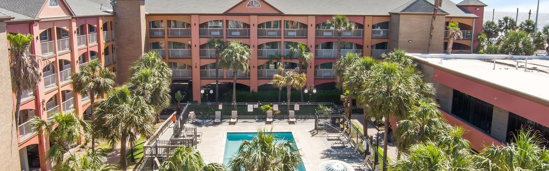 Beachfront Palms Hotel, Galveston TX