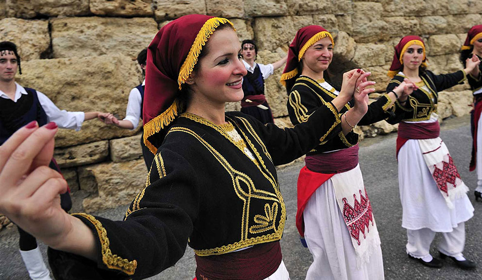 Dancers at Galveston Island Greek Festival